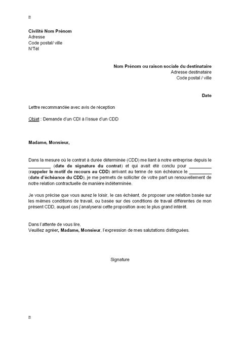 Lettre De Motivation Lettre Type Gratuite Lettre De Motivation Type Gratuite Mod 232 Le De Lettre