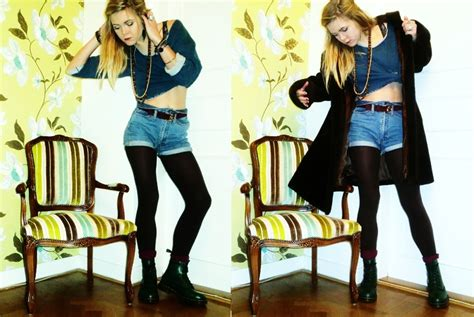 Dr Gold Day elin norgren dr martens green boots monki blue sweater