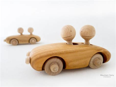Wooden Toys Handmade - kuruma handmade wooden toys with passengers that wobble as