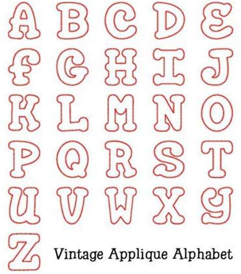 alphabet applique templates alphabets vintage applique alphabet