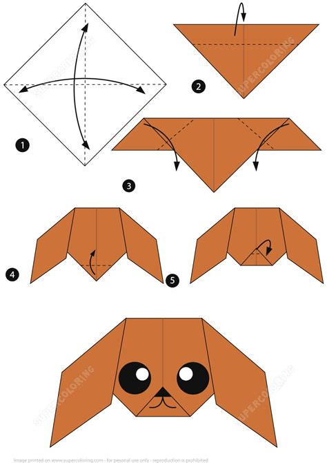 how to make paper crafts step by step how to make an origami poodle free