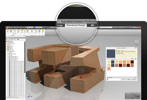 furniture design software woodwork  inventor