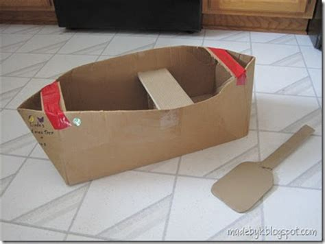 how to make a paper boat no tape made by k cardboard canoe
