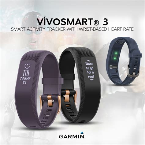 Garmin Vivosmart 3 garmin vivosmart 3 hr black gold buckle large 010