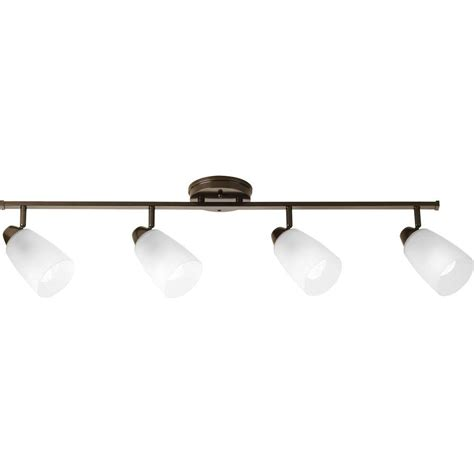 Track Light Fixture Progress Lighting Wisten Collection 4 Light Antique Bronze Track Lighting Fixture P3362 20 The