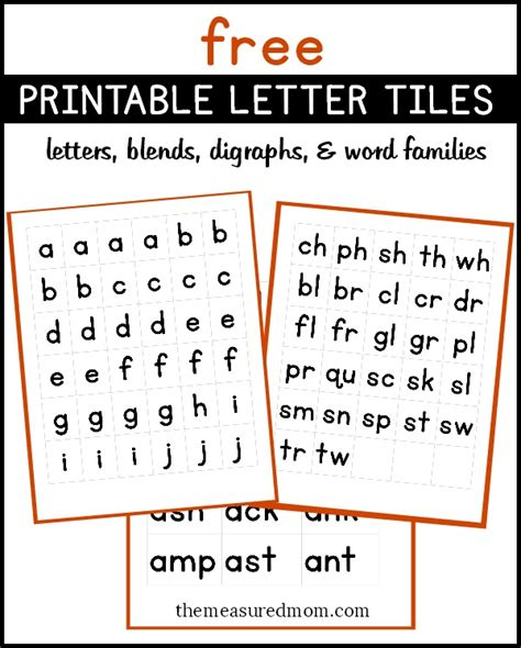 ph words scrabble free printable letters digraphs blends and word endings