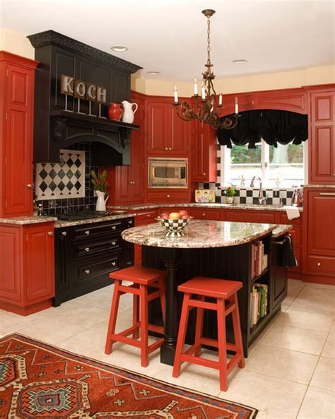 Red Painted Kitchen Cabinets by 80 Cool Kitchen Cabinet Paint Color Ideas Noted List