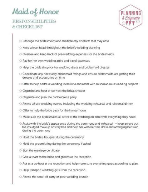 Wedding Necessities Checklist by Printable Wedding Duties Checklist Mywedding