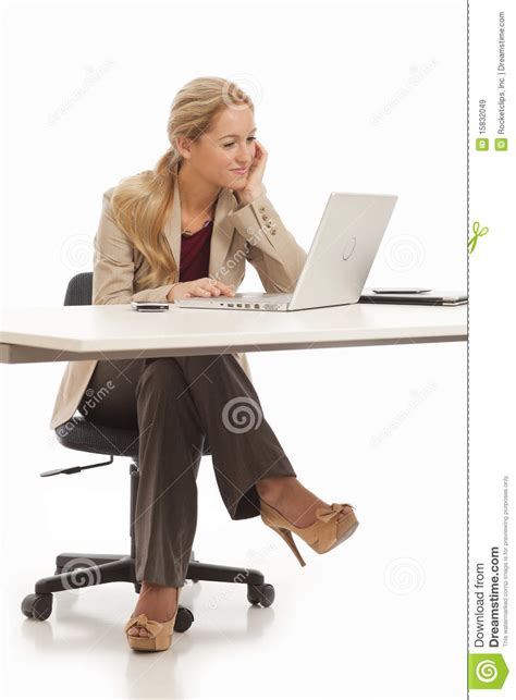 Sitting At Desk by Business Sitting At Desk Royalty Free Stock Images