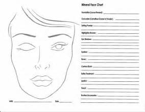 Face chart with a blank face chart