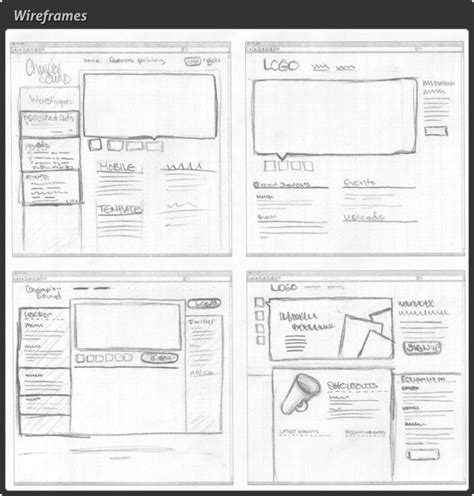 web layout wireframe know about standard web design basics