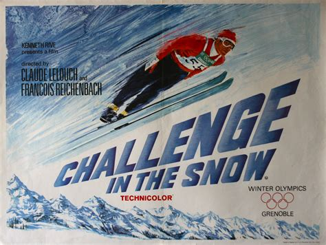 poster challenge challenge in the snow vintage posters
