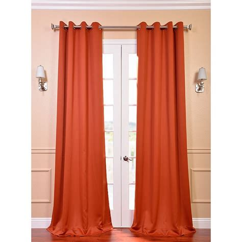 curtains with orange accents exclusive fabrics blaze grommet blackout thermal curtain