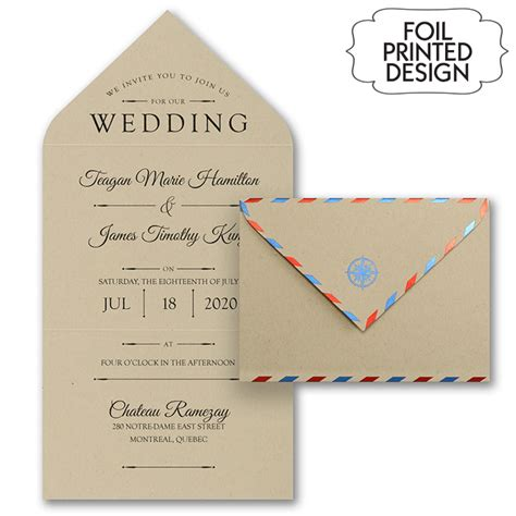 free wedding invitations by mail air mail destination wedding invitations flamingo
