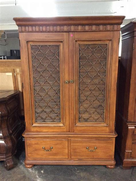 wicker armoire rattan wood armoire
