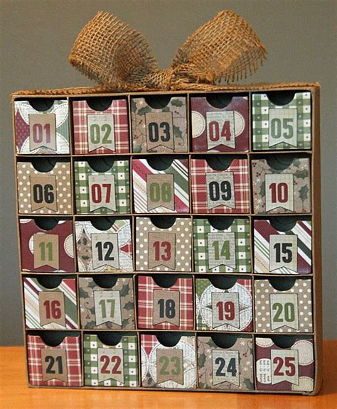altered advent calendar christmas countdown box