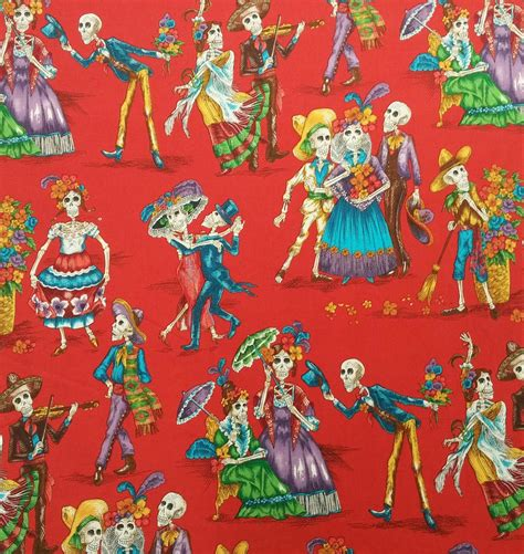 Henry Quilt Fabric by Day Of The Dead