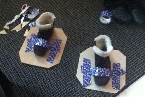 diy snow shoes cardboard snowshoes diy