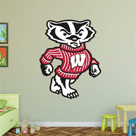 home decor stores madison wi wisconsin badgers mascot bucky badger wall decal shop