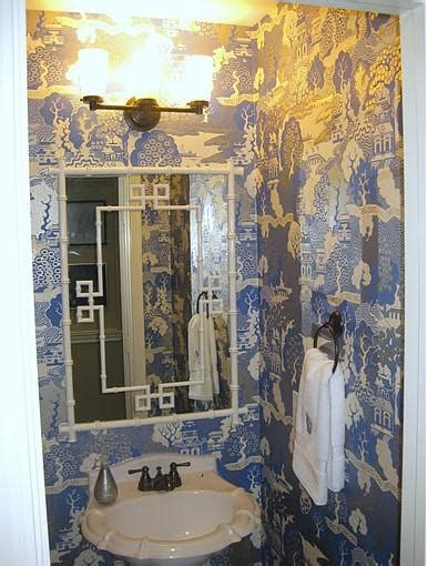 greek key mirror eclectic bathroom odi et amo