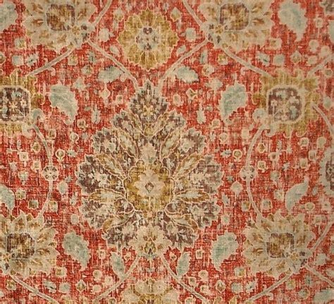 upholstery fabric vintage vintage persian rug fabric orange blue chenille velvet