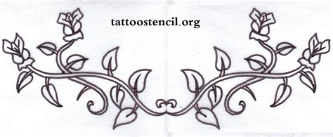 rose tattoo stencil free 5 best images of vine stencils free printable free