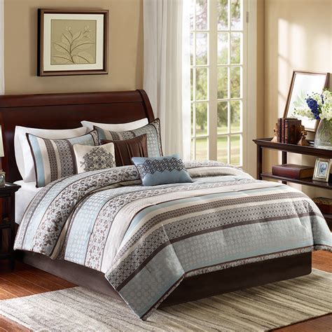 7 piece comforter set madison park princeton 7 piece reversible comforter set
