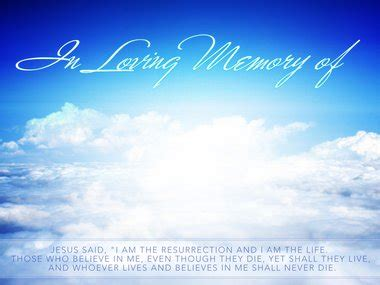 In Loving Memory Backgrounds Gallery In Loving Memory Powerpoint Template