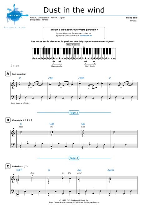tutorial piano dust in the wind partitura piano dust in the wind kansas partituras