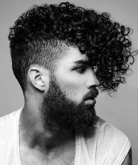 curly mohawk beard curly hair styles men mens hairstyles 2018
