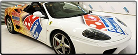 Lamborghini Pizza Delivery Vehicle Vinyl Wrapping For Corporate Events Business