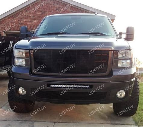 gmc light bar grill complete lower bumper grill mount led light bar system for