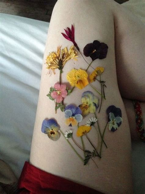 aesthetic tattoos flowers pale and grunge image flower