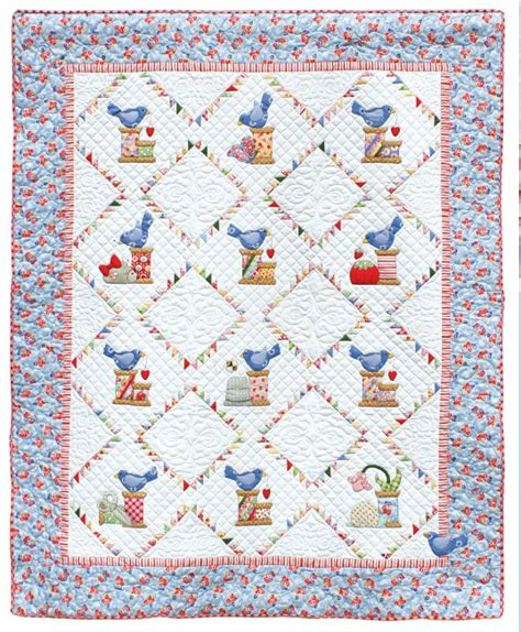 Quilt Patterns With Birds by Sewing Quilt Birds Quilt Applied Quilt Baby Appliques