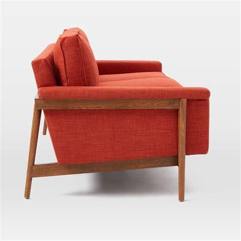 wooden sofa frame leon wood frame loveseat 68 quot west elm