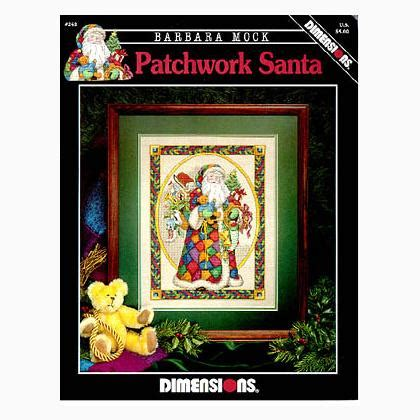 Patchwork Santa - patchwork santa from dimensions cross stitch charts