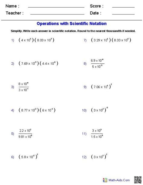Scientific Notation Worksheet Answer Key by Scientific Notation Worksheet Multiplication And Division U2022 The World S Catalog