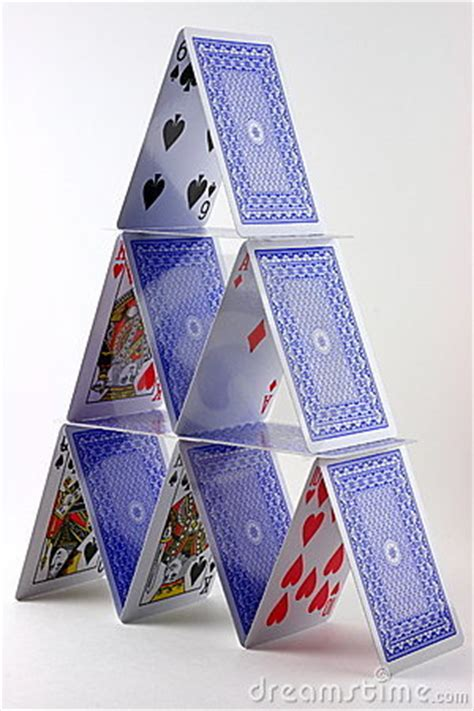 card house stock image image