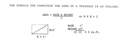 cross sectional area of a triangle figure 15 19 area of a triangle