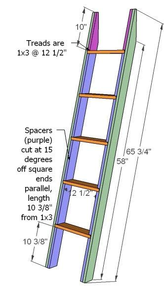diy wooden bunk bed ladder plans wooden  small treasure
