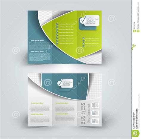 Brochure Mock Up Design Template Stock Vector Image 65768778 Brochure Mock Up Template