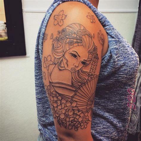 日本艺妓纹身图 多款日本艺妓纹身图经典纹身图案