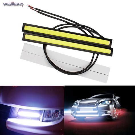 Led Drl 2pc lot 17cm bright waterproof led daytime running lights cob diy drl car styling fog car