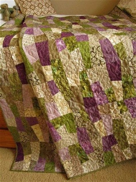 Lavender Patchwork Quilt - for m i and on