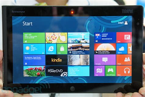Lenovo Thinkpad Tablet Windows 8 lenovo windows 8 thinkpad tablet debuts