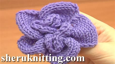 knitted flower pattern youtube knitted spiral flower knitting tutorial 1 learn how to