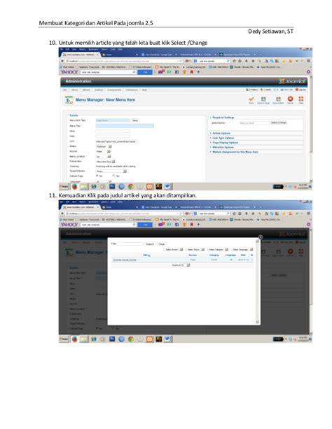 membuat artikel joomla 3 membuat kategori artikel joomla2 5