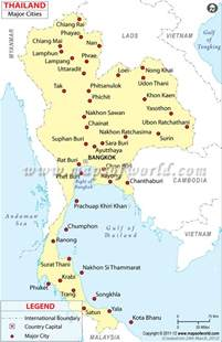 thailand cities map