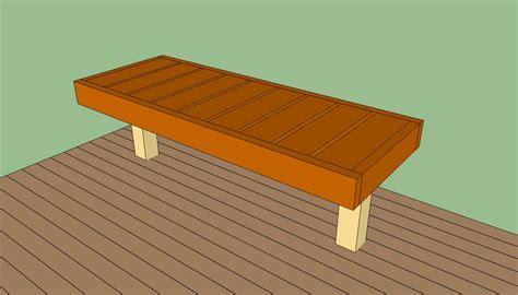 deck bench plans  howtospecialist   build