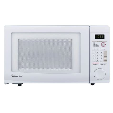 Home Depot Countertop Microwaves by Magic Chef 1 1 Cu Ft Countertop Microwave In White